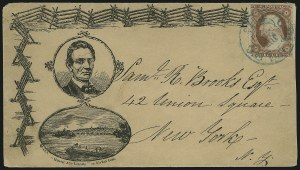 "Sale Number 875, Lot Number 362, Lincoln Campaign CoversBeardless Lincoln Rail and ""Flat Boat"" Campaign Design, Beardless Lincoln Rail and ""Flat Boat"" Campaign Design"