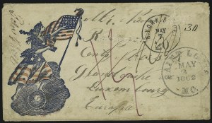 Sale Number 875, Lot Number 386, Civil War PatrioticsLady Liberty and Flag, Lady Liberty and Flag