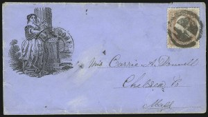 Sale Number 875, Lot Number 394, Civil War PatrioticsStanding Liberty With Union Column, Standing Liberty With Union Column