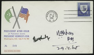 Sale Number 875, Lot Number 620, Famous AmericansRobert Kennedy and Mahammad Ayub Khan, Robert Kennedy and Mahammad Ayub Khan