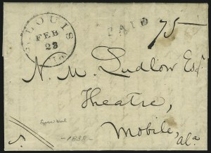 Sale Number 875, Lot Number 686, Express MailsSt. Louis Mo. Feb. 23, St. Louis Mo. Feb. 23
