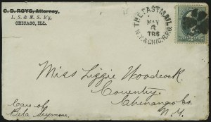 Sale Number 875, Lot Number 688, Railroad MarkingsThe Fast Mail N.Y. & Chic. R.P.O. May 6 TR 6, The Fast Mail N.Y. & Chic. R.P.O. May 6 TR 6