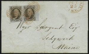 Sale Number 875, Lot Number 750, 1847 Issue5c Red Brown (1), 5c Red Brown (1)