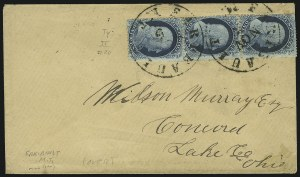 Sale Number 875, Lot Number 805, 1c 1857-60 Issue1c Blue, Ty. II (20), 1c Blue, Ty. II (20)