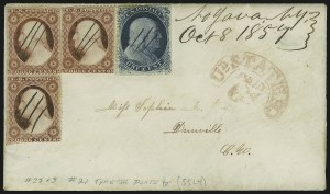Sale Number 875, Lot Number 806, 1c 1857-60 Issue1c Blue, Ty. III (21), 1c Blue, Ty. III (21)