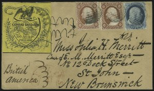 Sale Number 875, Lot Number 807, 1c 1857-60 Issue1c Blue, Ty. IIIa (22), 1c Blue, Ty. IIIa (22)