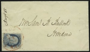 Sale Number 875, Lot Number 808, 1c 1857-60 Issue1c Blue, Ty. V (24), 1c Blue, Ty. V (24)