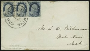 Sale Number 875, Lot Number 810, 1c 1857-60 Issue1c Blue, Ty. V (24), 1c Blue, Ty. V (24)