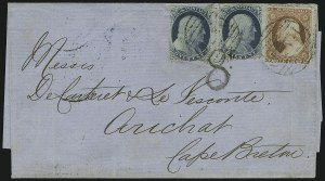 Sale Number 875, Lot Number 814, 1c 1857-60 Issue1c Blue, Ty. V (24), 1c Blue, Ty. V (24)