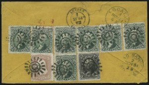 Sale Number 875, Lot Number 857, 1861-66 Issue (Scott 67 to 70)10c Yellow Green (68), 10c Yellow Green (68)