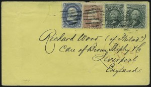 Sale Number 875, Lot Number 858, 1861-66 Issue (Scott 67 to 70)10c Yellow Green (68), 10c Yellow Green (68)