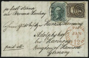 Sale Number 875, Lot Number 859, 1861-66 Issue (Scott 67 to 70)10c Yellow Green (68), 10c Yellow Green (68)