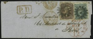 Sale Number 875, Lot Number 861, 1861-66 Issue (Scott 67 to 70)10c Yellow Green (68), 10c Yellow Green (68)