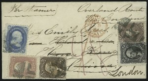 Sale Number 875, Lot Number 863, 1861-66 Issue (Scott 67 to 70)24c Red Lilac (70), 24c Red Lilac (70)