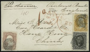 Sale Number 875, Lot Number 867, 1861-66 Issue (Scott 71 to 78)30c Orange (71), 30c Orange (71)