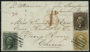 Sale Number 875, Lot Number 869, 1861-66 Issue (Scott 71 to 78)30c Orange (71), 30c Orange (71)