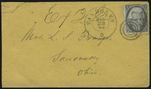 Sale Number 875, Lot Number 874, 1861-66 Issue (Scott 71 to 78)2c Black (73), 2c Black (73)