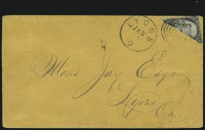 Sale Number 875, Lot Number 885, 1861-66 Issue (Scott 71 to 78)2c Black, Diagonal Half Used as 1c (73a), 2c Black, Diagonal Half Used as 1c (73a)