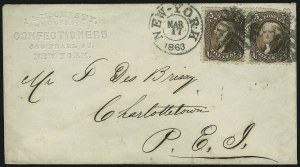 Sale Number 875, Lot Number 886, 1861-66 Issue (Scott 71 to 78)5c Brown (76), 5c Brown (76)