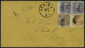 Sale Number 875, Lot Number 908, 1869 Pictorial Issue (10c)10c Yellow (116), 10c Yellow (116)