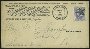 Sale Number 875, Lot Number 940, Classic Precancellations (Glen Allen Virginia)1c Gray Blue (206), 1c Gray Blue (206)