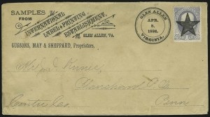 Sale Number 875, Lot Number 941, Classic Precancellations (Glen Allen Virginia)1c Gray Blue (206), 1c Gray Blue (206)