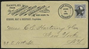 Sale Number 875, Lot Number 943, Classic Precancellations (Glen Allen Virginia)1c Gray Blue (206), 1c Gray Blue (206)