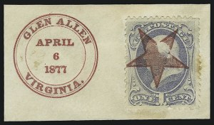 Sale Number 875, Lot Number 944, Classic Precancellations (Glen Allen Virginia)1c Ultramarine (156), 1c Ultramarine (156)