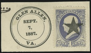 Sale Number 875, Lot Number 948, Classic Precancellations (Glen Allen Virginia)1c Gray Blue (206), 1c Gray Blue (206)