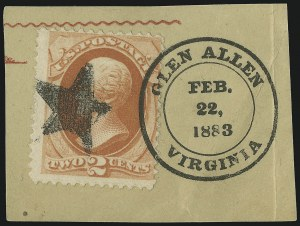 Sale Number 875, Lot Number 950, Classic Precancellations (Glen Allen Virginia)2c Vermilion (183), 2c Vermilion (183)