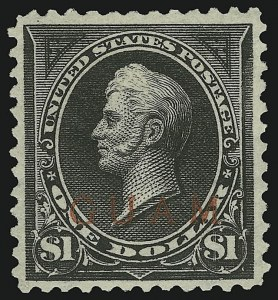 Sale Number 878, Lot Number 631, Cuba, Guam, Philippines1899, $1.00 Black, Ty. II (13), 1899, $1.00 Black, Ty. II (13)