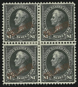 Sale Number 878, Lot Number 634, Cuba, Guam, Philippines1901, $1.00 Black, Ty. I (223), 1901, $1.00 Black, Ty. I (223)