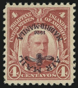 Sale Number 878, Lot Number 638, Cuba, Guam, Philippines1926, 4c Carmine, Air Post, Inverted Ovpt. (C2a), 1926, 4c Carmine, Air Post, Inverted Ovpt. (C2a)