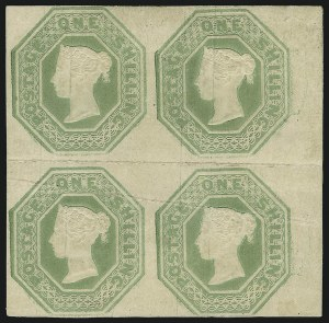 Sale Number 878, Lot Number 642, Foreign CountriesGREAT BRITAIN, 1847, 1sh Pale Green, Die I (5, Gibbons Specialized H1), GREAT BRITAIN, 1847, 1sh Pale Green, Die I (5, Gibbons Specialized H1)