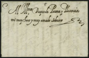Sale Number 885, Lot Number 2043, Royal Mail and Documents1588, Letter from King Philip II of Spain to the Duke of Parma, 1588, Letter from King Philip II of Spain to the Duke of Parma