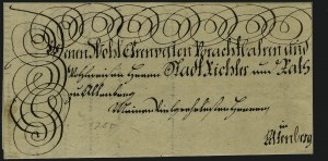 Sale Number 885, Lot Number 2046, Royal Mail and Documents17th & 18th Century Germanic Letters, 17th & 18th Century Germanic Letters