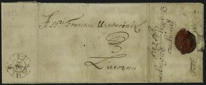 "Sale Number 885, Lot Number 2067, Pre-Stamp Postal Markings by Country1670-75, London ""Franches"" Foreign Branch Handstamp, 1670-75, London ""Franches"" Foreign Branch Handstamp"