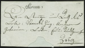 Sale Number 885, Lot Number 2087, Pre-Stamp Postal Markings by CountrySWITZERLAND, 1811, University Seal on Letter from Sarnen (Switzerland), SWITZERLAND, 1811, University Seal on Letter from Sarnen (Switzerland)