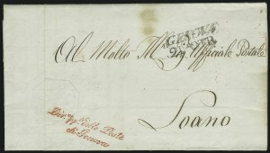 "Sale Number 885, Lot Number 2092, Stamped Mail by CountryITALY, 1819, 50c Blue, ""Cavalini"", ITALY, 1819, 50c Blue, ""Cavalini"""