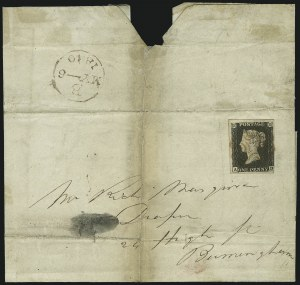 Sale Number 885, Lot Number 2094, Stamped Mail by Country1840, 1p Black (1; SG 2), 1840, 1p Black (1; SG 2)