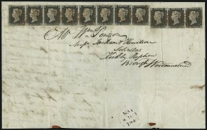 Sale Number 885, Lot Number 2095, Stamped Mail by Country1840, 1p Black (1; SG 2), 1840, 1p Black (1; SG 2)