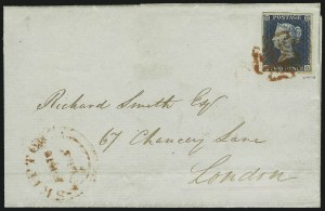 Sale Number 885, Lot Number 2097, Stamped Mail by Country1840, 2p Blue (2; SG 4), 1840, 2p Blue (2; SG 4)