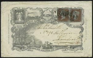 Sale Number 885, Lot Number 2099, Stamped Mail by Country1841, 1p Red (3), 1841, 1p Red (3)