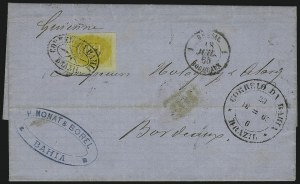 Sale Number 885, Lot Number 2108, Stamped Mail by CountryBRAZIL, 1861, 430r Yellow (40), BRAZIL, 1861, 430r Yellow (40)