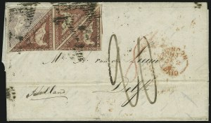 Sale Number 885, Lot Number 2110, Stamped Mail by CountryCAPE OF GOOD HOPE, 1857-58, 1p Rose, 6p Pale Lilac (3, 5), CAPE OF GOOD HOPE, 1857-58, 1p Rose, 6p Pale Lilac (3, 5)