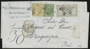 Sale Number 885, Lot Number 2115, Stamped Mail by Country1869, 5fr Laureated (37; Yvert 33), 1869, 5fr Laureated (37; Yvert 33)