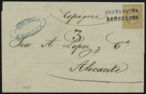 Sale Number 885, Lot Number 2118, Stamped Mail by Country1853, 40c Orange on Yellowish (18), 1853, 40c Orange on Yellowish (18)