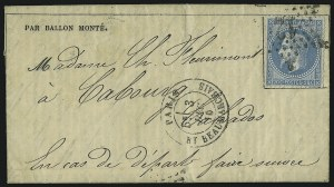 Sale Number 885, Lot Number 2120, Stamped Mail by Country1870, Gazette des Absents No. 13, 1870, Gazette des Absents No. 13