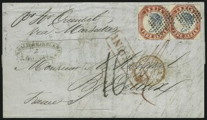 Sale Number 885, Lot Number 2125, Stamped Mail by Country1854, 4a Red & Blue (6), 1854, 4a Red & Blue (6)