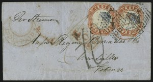 Sale Number 885, Lot Number 2127, Stamped Mail by Country1854, 4a Red & Blue (6), 1854, 4a Red & Blue (6)
